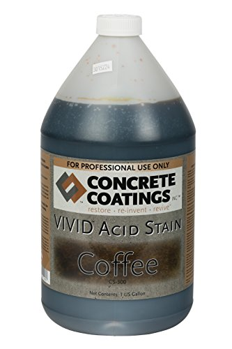 VIVID Acid Stain - 1 Gal - Coffee (Medium Brown With a Slight Red Hue) (Concrete Acid Stain Colors)
