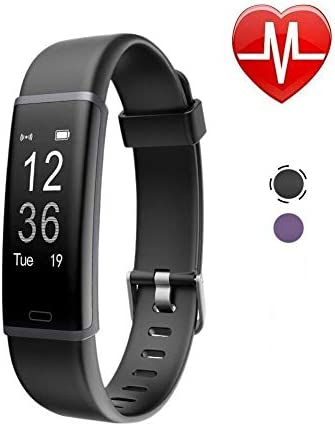 SportyPal Waterproof Fitness Tracker, Activity Tracker Heart Rate Monitor, Sleep Monitor, Step Counter, Calorie Counter, Pedometer Watch for Kids Women Men Black