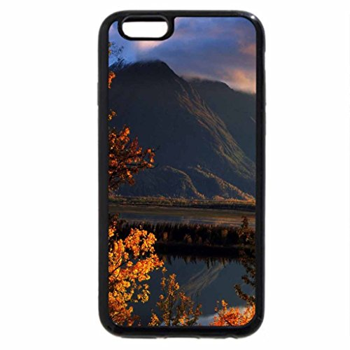 iPhone 6S Case, iPhone 6 Case (Black & White) - red mountain with trees in autumn