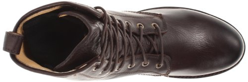 Frye Veronica Combat - Botas de canvas mujer Dark Brown Soft Vintage Leather-76276