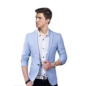 Creative concepts Men's Slim fit Casual wear Sky Blue Blazer