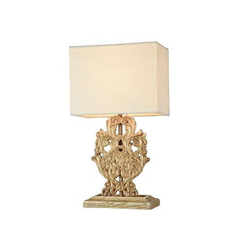 Bois Réctangulaire Ornement À Original Noble Lampe Poser Effet EIDH9YW2