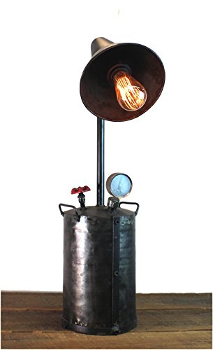 Industrial Style Factory Oil Pump Steampunk Lamp Aged Finish w Real Parts by The King's Bay