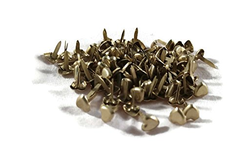Mini Heart Brads - Brushed Gold - -