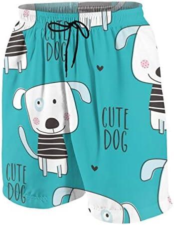 キッズ ビーチパンツ かわいい 犬柄 ドッグ サーフパンツ 海パン 水着 海水パンツ ショートパンツ サーフトランクス スポーツパンツ ジュニア 半ズボン ファッション 人気 おしゃれ 子供 青少年 ボーイズ 水陸両用