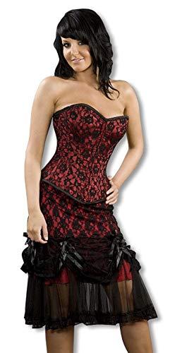 Horror-Shop Falda de Tul con Encaje Negro y Rojo M / 38: Amazon.es ...