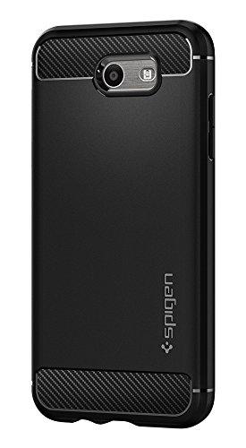 - Spigen Rugged Armor Designed for Samsung Galaxy J3 Prime/Galaxy J3 Luna Pro/Galaxy J3 Emerge Case - Black
