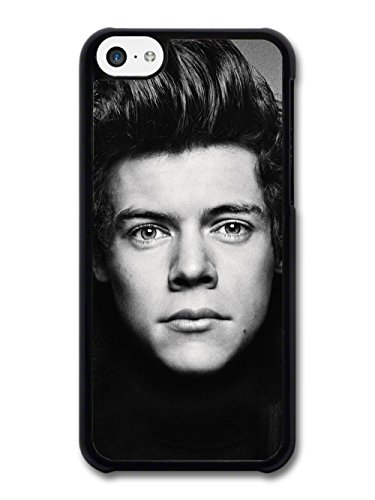 Harry Styles Black & White Close Up One Direction 1D coque pour iPhone 5C