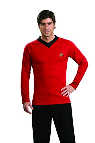 [Star Trek Classic Deluxe Red Shirt, Adult Large Costume] (Red Star Trek Dress)