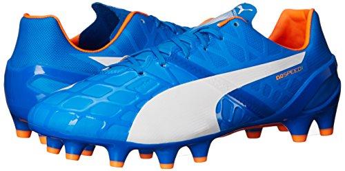 Puma Evospeed 1.4fg Botas de fútbol Electric Blue Lemonade/White/Orange Clownfish