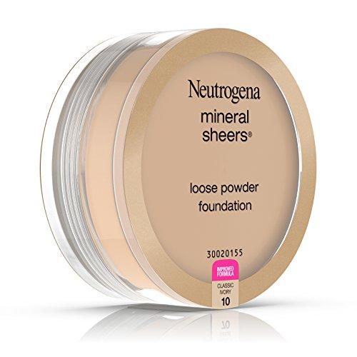 Neutrogena Mineral Sheers Loose Powder Foundation, Classic Ivory 10, .19 Oz.