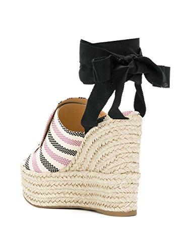Coton Noir Femme Chaussures Sergio Rossi Rose A80210MFN2725058 Compensées qX7wT8H