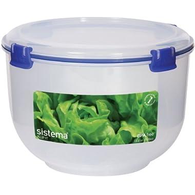Sistema Klip It Collection Lettuce Crisper Food Storage Container, 118 Ounce/ 14.75 Ounce