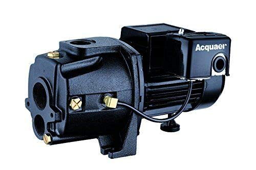 Acquaer 3/4 HP Dual-Voltage Cast Iron Convertible Deep Well Jet Pump With Injector kit
