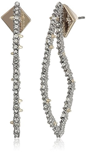 Alexis Bittar Crystal Encrusted Abstract Thorn Post Drop Earrings