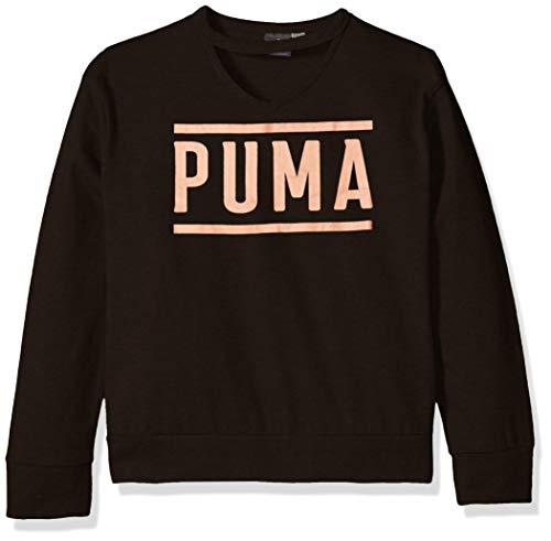 PUMA Big Girls' Longsleeve Top, Black, L