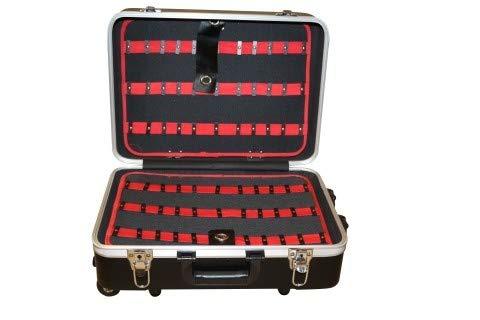 Maleta Herramientas Profesional Con Ruedas Mango Extensible ABS Negro 460x355x190MM NIVEL
