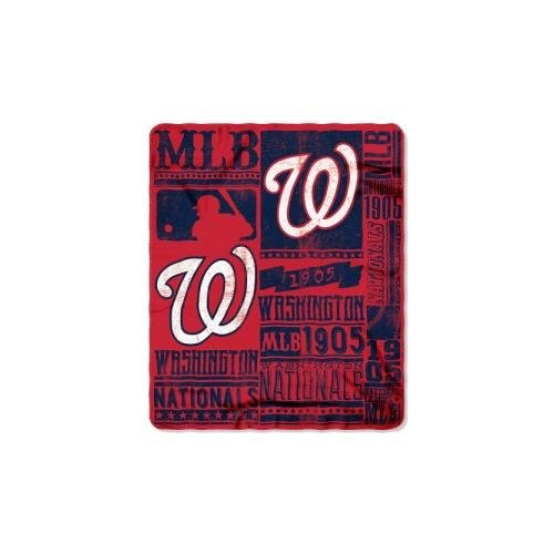 The Northwest Company MLB Washington Nationals Strength Printed Fleece Throw, 50