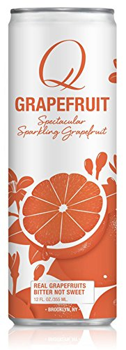 Club Soda Drink (Q Drinks, Q Grapefruit, Sparkling Grapefruit Soda, 12 Ounce Slim Can (Pack of 12))