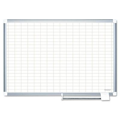 Mastervision - Grid Planning Board 1X2'' Grid 72X48 White/Silver ''Product Category: Presentation/Display & Scheduling Boards/Planning Boards/Schedulers'' by Original Equipment Manufacture