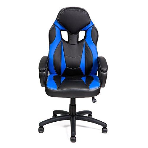 HULLR Gaming Racing Computer Office Chair (Black/Blue) HÜLLR