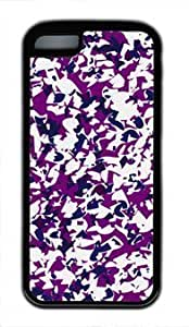 Abstract Pattern Purple Design DIY Rubber Black iphone 5C Case Perfect By Custom Service