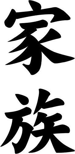 Amazon com: Family Kazoku Japanese Kanji Character Symbol