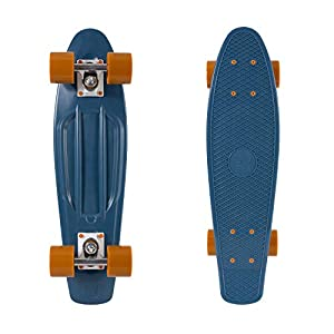Retrospec Quip Complete Skateboard 22.5″ Classic Plastic Mini Cruiser Skateboards w/ABEC 7 Bearings