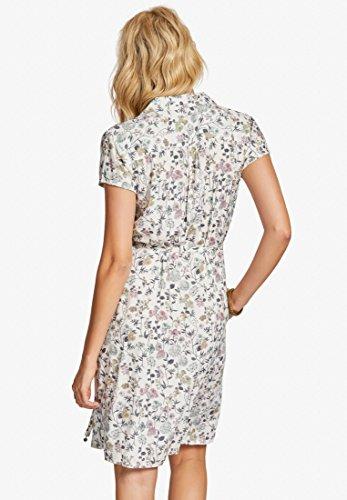 Khujo Camisa Vestido Manga Corta Weiß Mujer Mit Blumen Para r5rqdxB