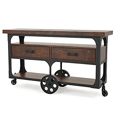 Chappellet Dark Brown Wood TV Console with Drawers