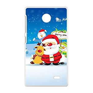 Christmas Senta Claus White Phone Case for Nokia Lumia X