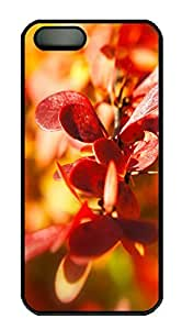 iPhone 5 5S Case Nature veryred PC Custom iPhone 5 5S Case Cover Black