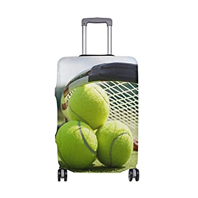Abbylife Tennis Ball Luggage Cover Suitcase Protector Fits 18-20//22-24 Inch