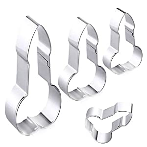 Bachelorette Party Cookie Cutters, Stainless Steel Naughty Bachelorette Party Gag Gift, Assorted Sizes 41ELxYEeAeL