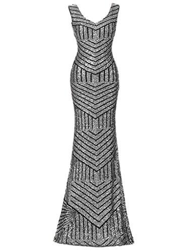 Ysmo - Vestido - para mujer plateado plateado 46