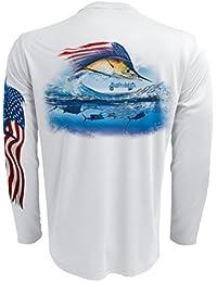 "<span class=""a-offscreen"">[Sponsored]</span>Men's UPF 50+ Fishing Chest Graphic Performance Long Sleeve Shirt"