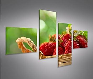 islandburner Bild Bilder auf Leinwand Erdbeeren Küchenbild 4L XXL ...