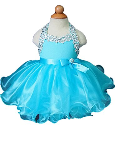 Beiji Little Girls' Crystals Cupcakes Birthday Mini Beauty Pageant Dresses 8 US (Halloween Glitz Pageant Dresses)