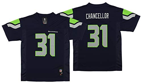 NEW Seattle Seahawks KAM CHANCELLOR #31 Navy Blue Youth Boys NFL Football Jersey Size XL 18-20 X-Large