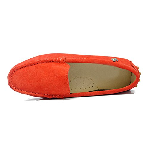 TYB9601 Toe Minitoo Round Boat Flats Red Ballet Loafers Women's Shoes Loafers dwwPqS