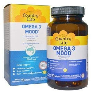 COUNTRY LIFE VITAMINS OMEGA 3,MOOD, 90 SGEL