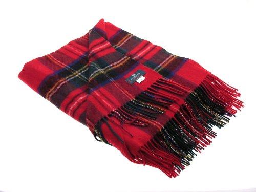 (iLuv Royal Stewart Modern Tartan Lambswool Blanket 142cm X 160cm)