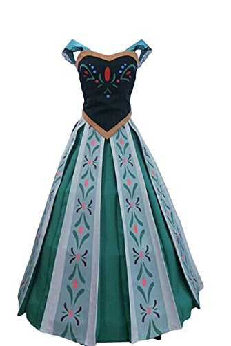 Goodsaleok Cosplay Anna Coronation Skirt Costume Child L