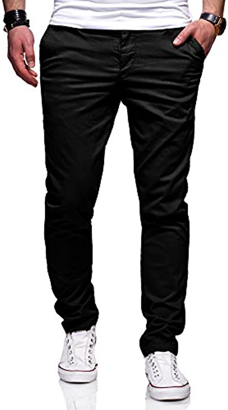 Ombre-Eight męskie spodnie chinosowe Slim Fit Chino spodnie jeans J-103: Odzież
