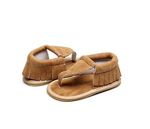 Baby Mädchen Jungen Kinder Boy Girls Sommer Sport Sandale Schuhe Rutschfest Lauflernschuhe Krippe hohler Schuh-Turnschuh durch cinnamou Braun