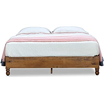 Amazon.com: MUSEHOME 12 Inch Wood Bed Frame Rustic Style Eliminates ...