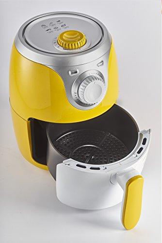 Ariete 4615 Airy Fryer Mini, Friggitrice ad aria senza olio, 1000 W, Capacità 2 Litri, Facile da pulire, Giallo 2