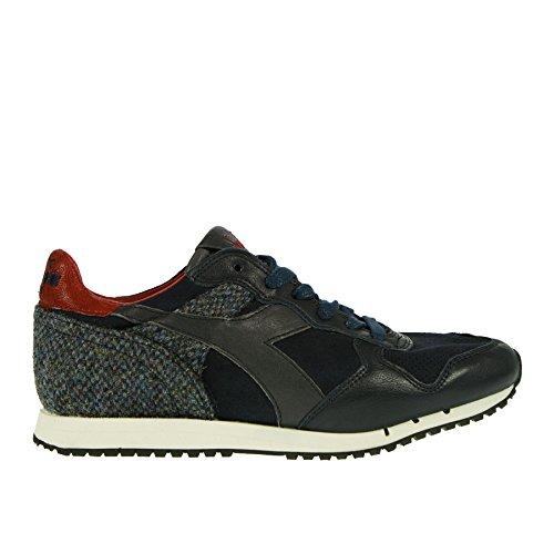 E 43 Diadora Sneaker in Pelle Blu Tessuto qdqIAzYw