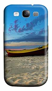 Beach boat PC Case Cover for Samsung Galaxy S3 I93003D