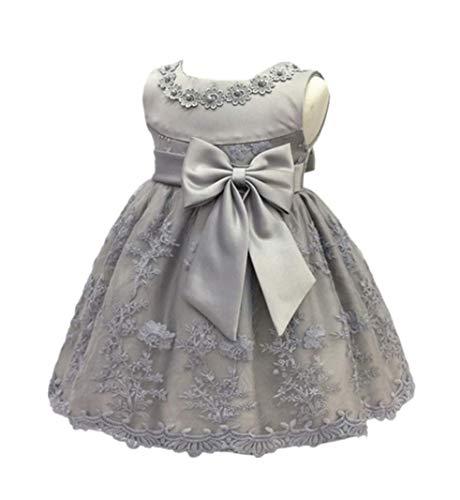 (H.X Baby Girl's Newborn Bowknot Gauze Christening Baptism Dress Infant Flower Girls Wedding Dresses 8 Color (3M/0-5 Months,)